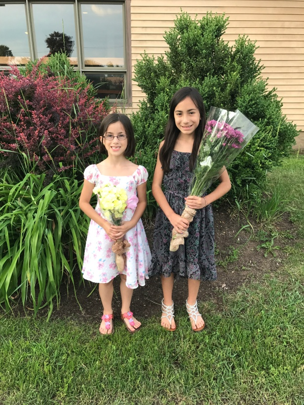 Lucia and Maria after their piano recital.